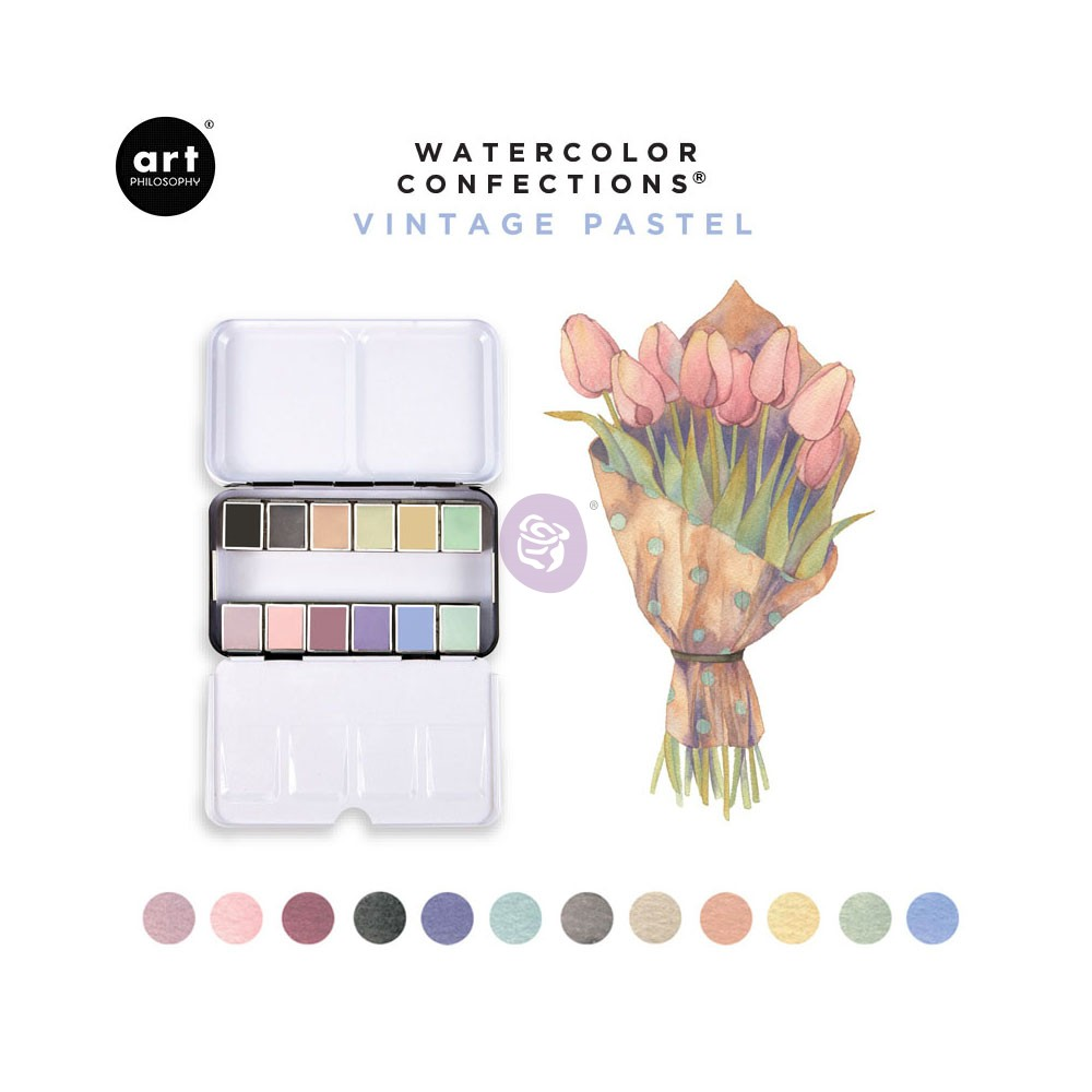 Watercolor Confections® - Vintage Pastel